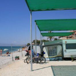Primera salida con la caravana y opinión del camping Playa Paraiso en Villajoyosa