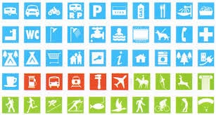 iconos camping