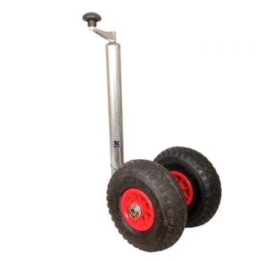 La rueda jockey de la caravana