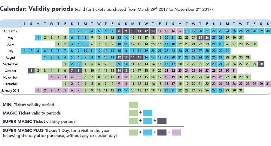 calendario-eurodisney2 Viajar a Eurodisney con Caravana (Parte III): Las entradas al parque.