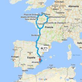 Ruta por Francia rumbo a Eurodisney (I): El viaje y sus preparativos.